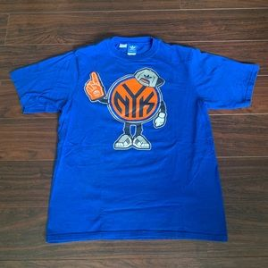 New York Knicks Adidas Graphic shirt trefoil small